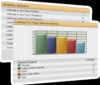 Screen Shot of SEO Ranking Report